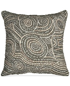 "Donna Karan Home Fuse Beaded 12"" x 12"" Decorative Pillow"