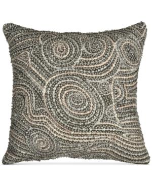 Donna Karan Home Fuse Beaded 12 x 12 Decorative Pillow Bedding