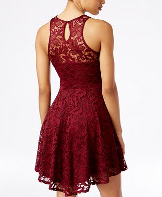 Material Girl Juniors Lace Skater Dress Created For Macy S
