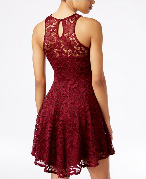 Material Girl Juniors  Lace Skater Dress 9491ec67add1