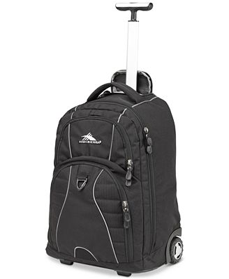 High Sierra Freewheel Rolling Backpack in Black