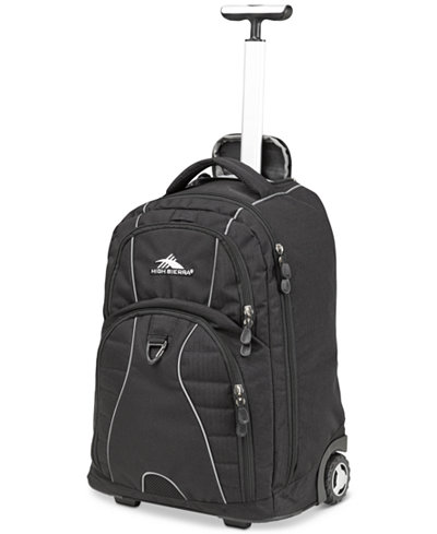 High Sierra Freewheel Rolling Backpack in Black - Backpacks ...