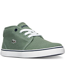 Lacoste Little Boys' Ampthill Canvas Casual Sneakers from Finish Line