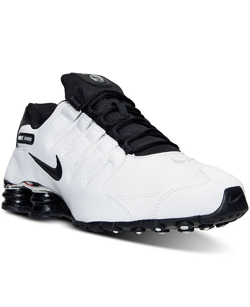los angeles 154f6 2030e ... Nike Men s Shox NZ Premium Running Sneakers from Finish ...