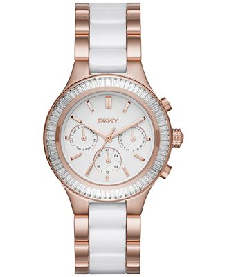 DKNY Women's Chambers Two-Tone Stainless Steel and Ceramic Bracelet Watch 38mm NY2498