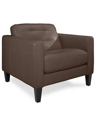 Milan Leather Living Room Chair
