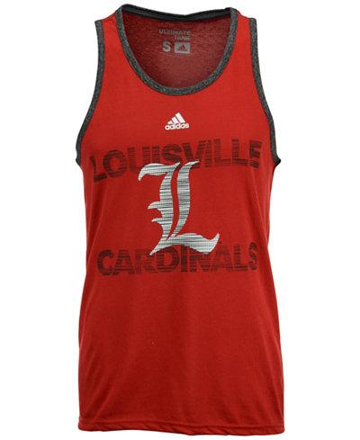 adidas Men's Louisville Cardinals Pulse Ultimate Tank Top