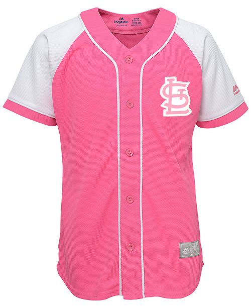2f02995d86df Majestic Girls  St. Louis Cardinals Pink Fashion Jersey   Reviews ...