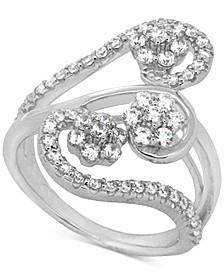 Diamond Abstract Statement Ring (1 ct. t.w.) in 14k White Gold, Created for Macy's