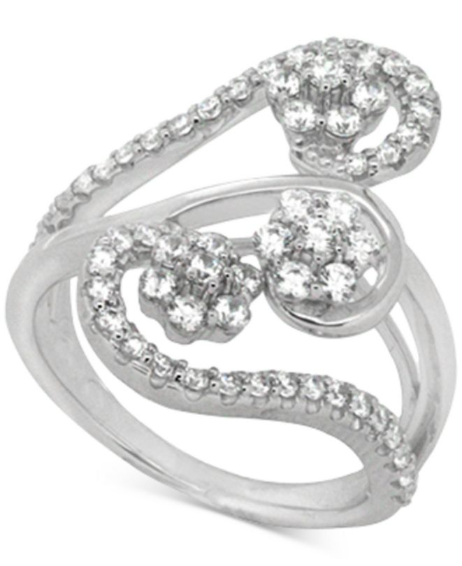 Wrapped in Love Diamond Abstract Statement Ring (1 ct. t.w.) in 14k White Gold, Created for Macy's