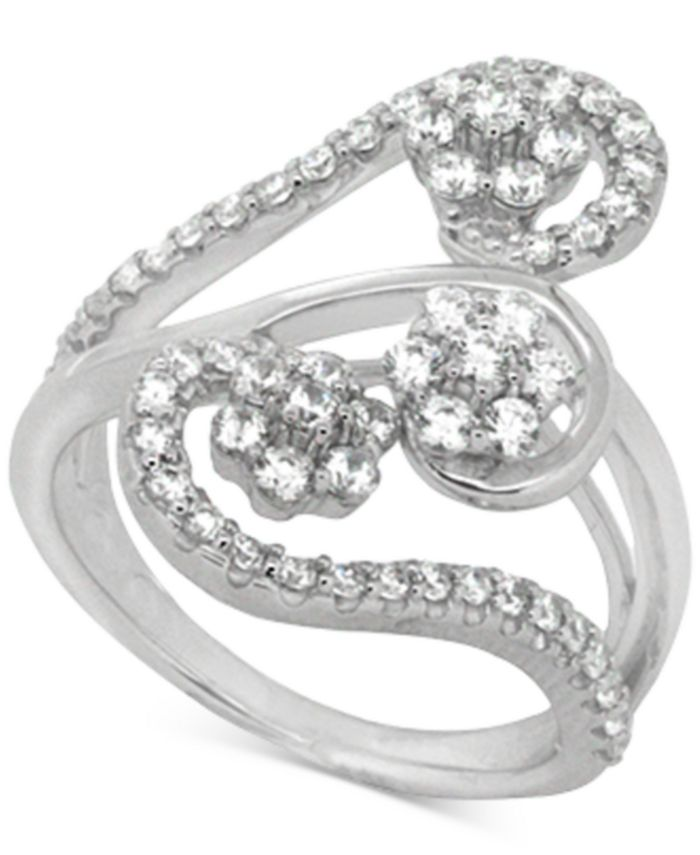 Wrapped in Love - Diamond Abstract Statement Ring (1 ct. t.w.) in 14k White Gold