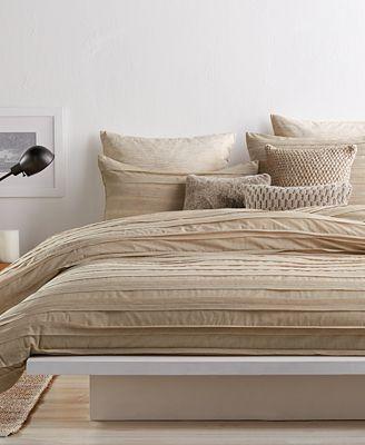 Dkny Loft Stripe Linen Bedding Collection Bedding