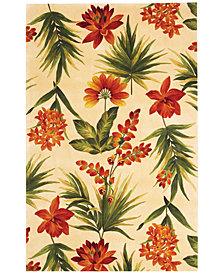 "Kas Catalina 780 Ivory Tropical Flora 3'3"" x 5'3"" Area Rug"