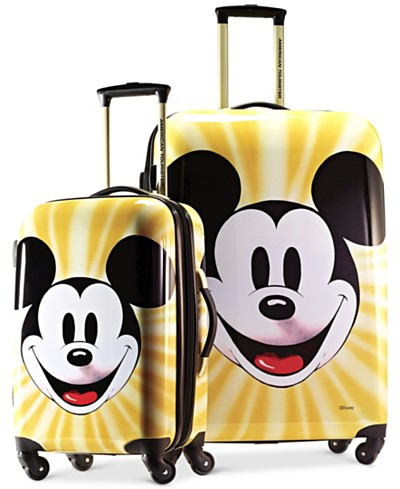 Disney Mickey Mouse Face Hardside Spinner Luggage by American Tourister