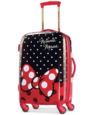 Disney Minnie Mouse Red Bow 21 Hardside Spinner Suitcase by American Tourister