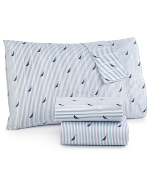 Image of Nautica Printed Twin Sheet Set Bedding