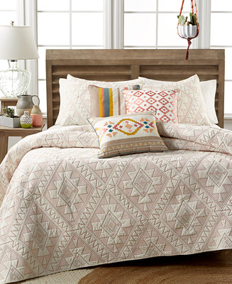 martha stewart collection closeout cotton canyonlands full queen quilt created for macy 39 s. Black Bedroom Furniture Sets. Home Design Ideas