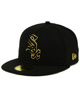 3ea25298b37 New Era Chicago White Sox Black On Metallic Gold 59FIFTY Fitted Cap -  Sports Fan Shop By Lids - Men - Macy s