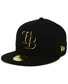 New Era Tampa Bay Rays Black On Metallic Gold 59FIFTY Fitted Cap