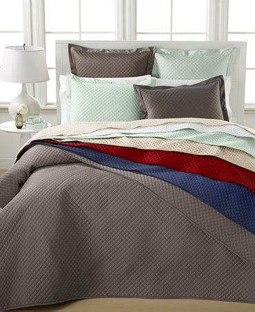 Charter Club Bedding Damask Quilted 3 Pc Coverlet Set