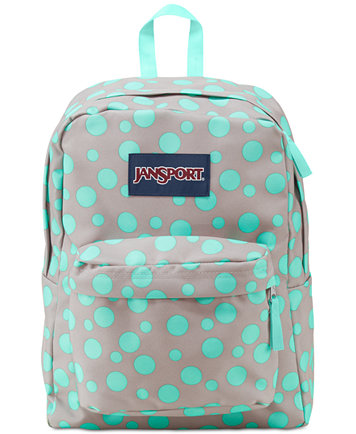Jansport Superbreak Backpack in Gray Rabbit Sylvia Dot - Backpacks ...