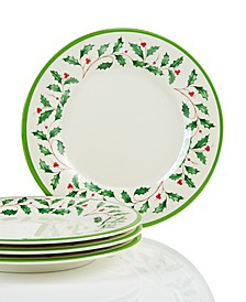 Holiday Melamine Accent Plates, Set of 4