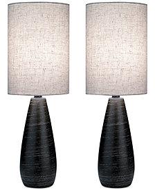 Lite Source Set of 2 Quatro Table Lamps