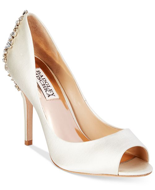 73a235dc061 Badgley Mischka Nilla Peep-Toe Evening Pumps   Reviews - Pumps ...