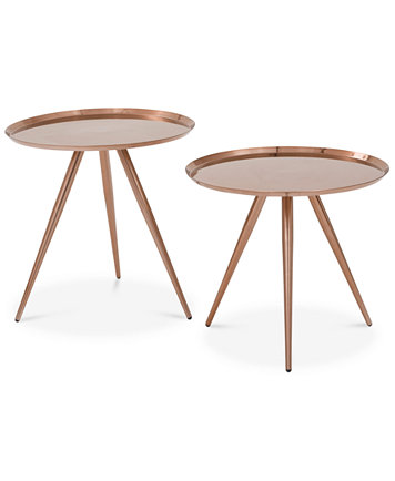 Ivie Set Of 2 Side Tables Quick Ship Furniture Macy S