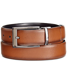 Alfani Men's Big & Tall Feather-Edge Reversible Belt, Created for Macy's