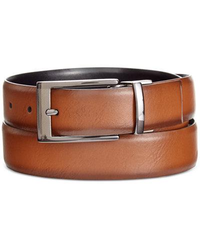 Alfani Men's Big & Tall Feather-Edge Reversible Belt, Created for Macy's