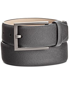 Men's Saffiano-Finish Belt, Created for Macy's