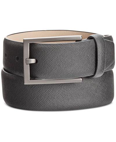 Alfani Men's Saffiano-Finish Belt, Created for Macy's