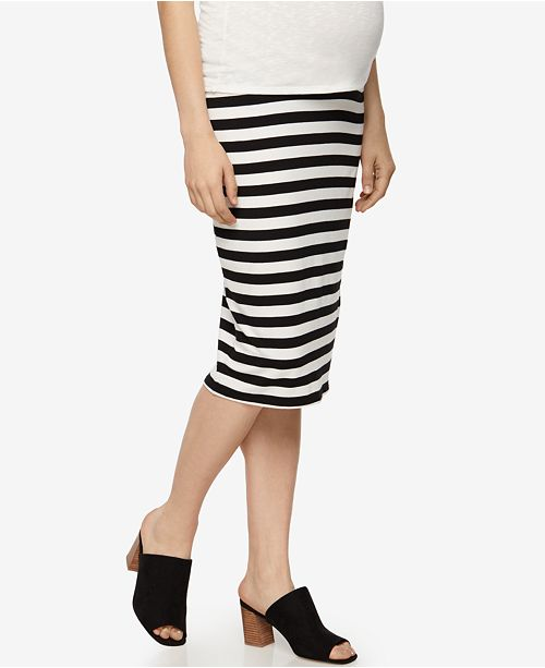 A Pea in the Pod Maternity Striped Pencil Skirt