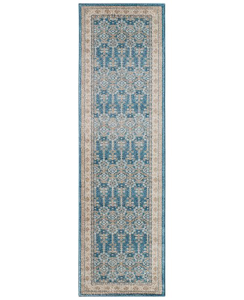 """Momeni CLOSEOUT! Voyage Indore Blue 2'3""""x7'6"""" Runner Rug"""