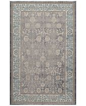CLOSEOUT! Momeni Voyage Agra Silver Area Rugs