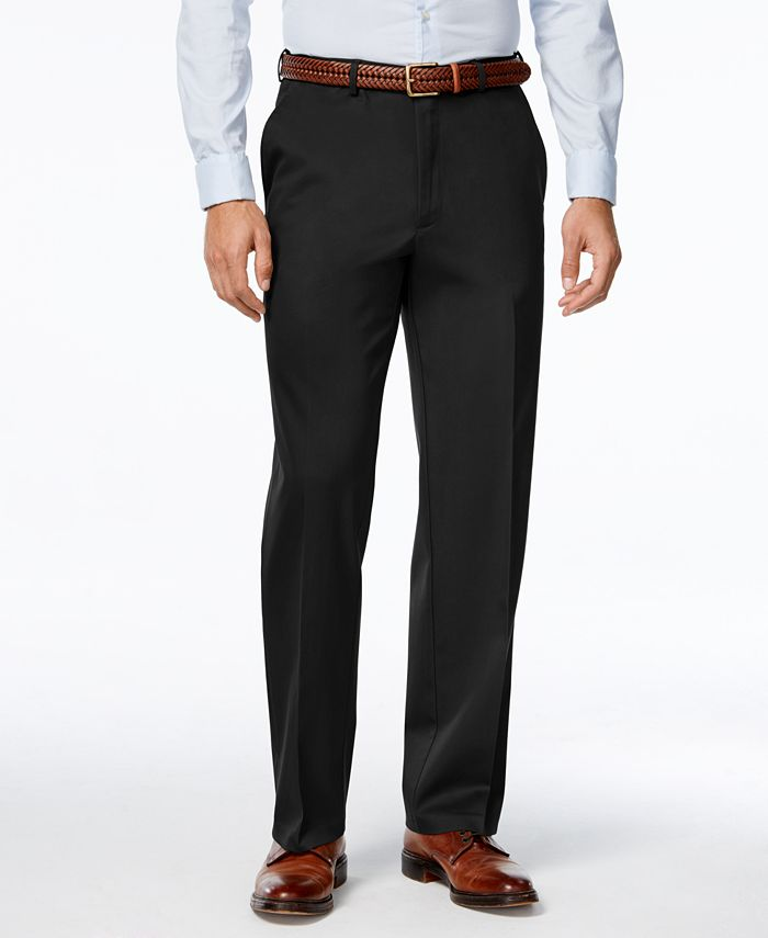 Haggar - Men's Big & Tall Classic-Fit Premium Non-Iron Comfort-Waist Pants