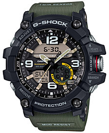 G-Shock Men's Analog-Digital Mud Master Army Green Resin Strap 56x55mm GG1000-1A3