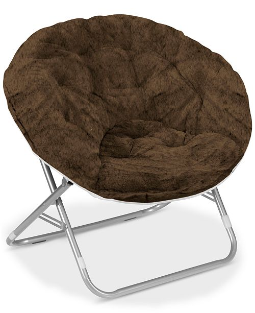 ab5b91647 Idea Nuova Urban Living Adult Faux Fur Saucer Chair   Reviews - Home ...
