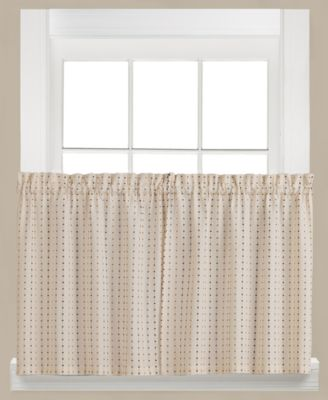 "Hopscotch Check Pair of 29"" x 24"" Tier Curtains"