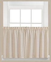"""Saturday Knight Hopscotch Check Pair of 29"""" x 24"""" Tier Curtains"""