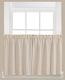 "Saturday Knight Hopscotch Check Pair of 29"" x 24"" Tier Curtains"