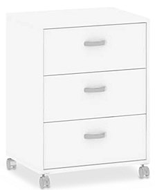 Hazell 3 Drawer Mobile Cabinet, Quick Ship