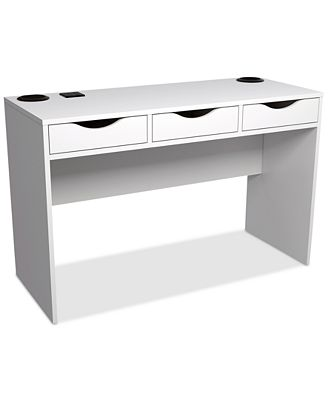 kaysie desk with charging station speakers quick ship furniture