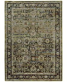 "Macy's Fine Rug Gallery Journey  Sardana Green 7'10"" x 10'10"" Area Rug"
