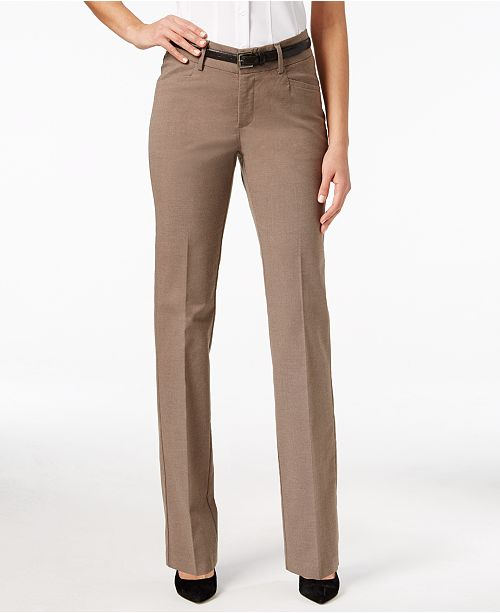 404d0a1a Lee Platinum Madelyn Straight-Leg Trousers & Reviews - Pants ...