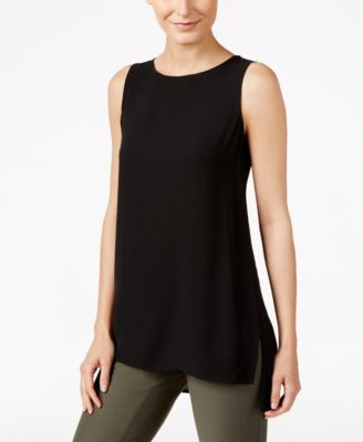 Silk High-Low Tunic, Regular & Petite