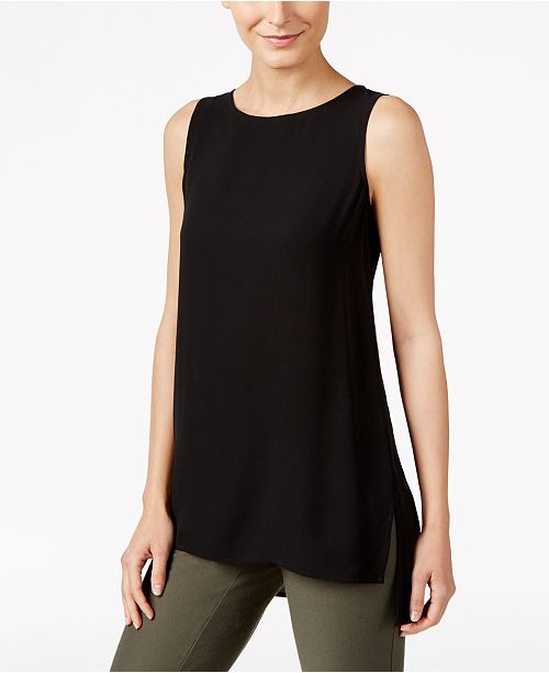 Eileen Fisher Silk High-Low Tunic, Regular & Petite