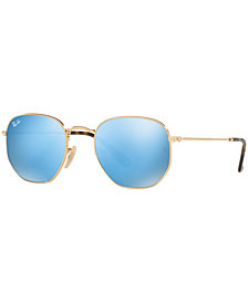 Ray-Ban HEXAGONAL FLAT LENS Sunglasses, RB3548N 48