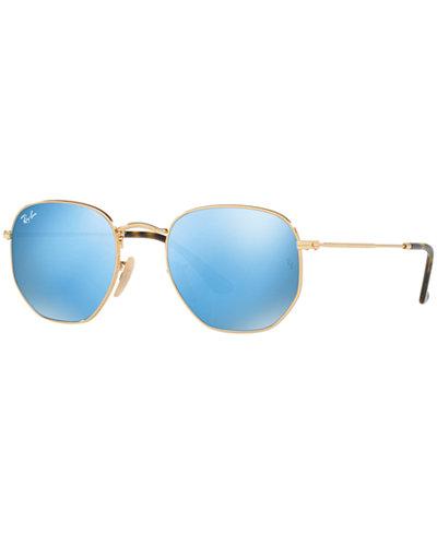 531958a588b ... ray ban hexagonal flat lens sunglasses rb3548n 48 ...